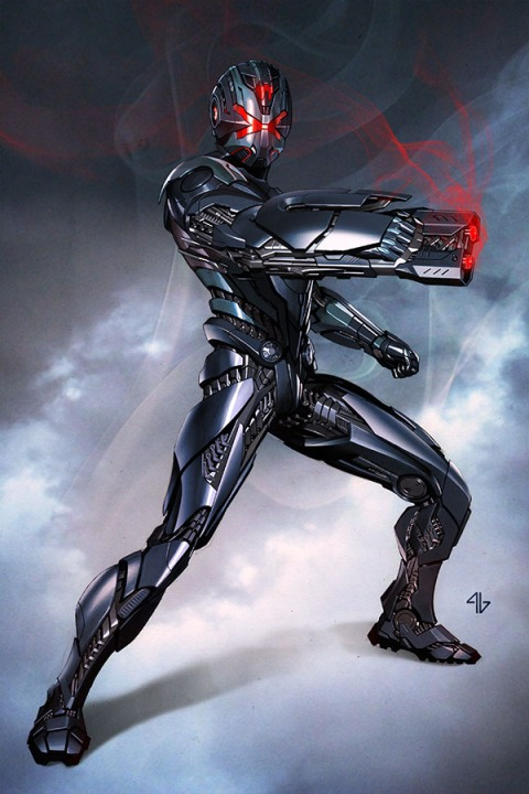 It's like Ultron had taken over Iron Man armour again and painted it to look burned metal