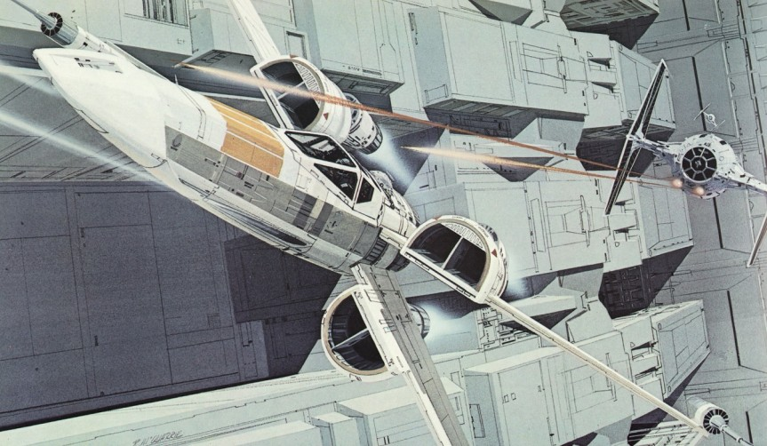 Do note the difference in the Tie-Fighter as well. The dimensions are slightly different