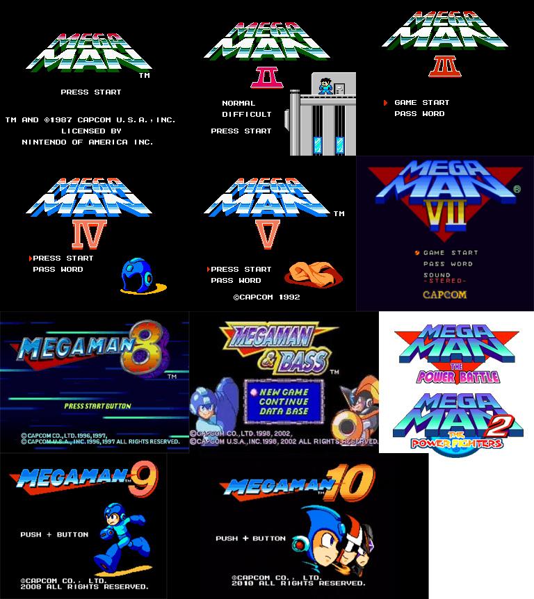 Classic title screens