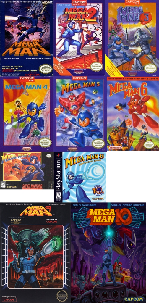 Mega Man NES covers