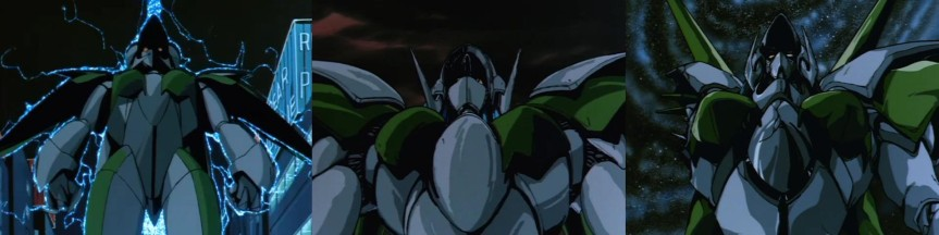 Iczer Robo from episode 1, 2 and 3 respectively. The design ultimately changed between all three episodes