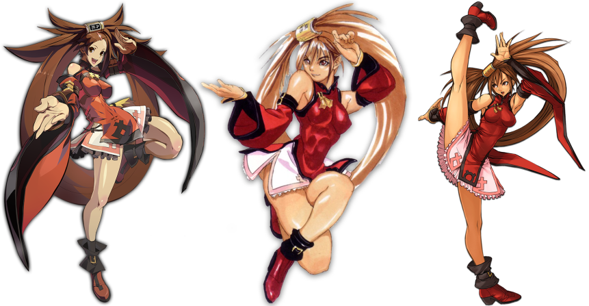 From left to right; Xrd, X and AC. While the Xrd illustration makes Jam look a bit scrawny, her in-game model is much softer and fuller