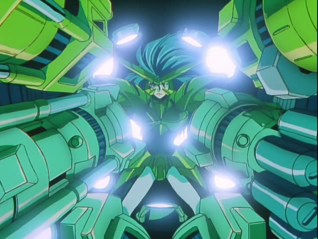 Of course, you can have your pilot suspended in a strange space without showing much. GaoGaiGar has a sort of direct interface system, where all Guy pretty much controls GaoGaiGar in 1:1 with those devices. Probably.