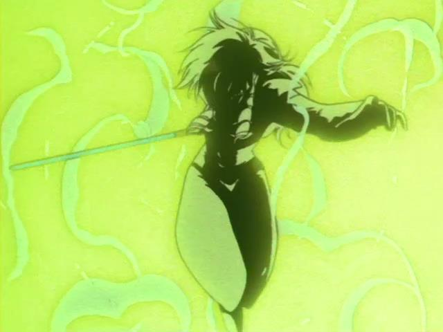 If filling up the room with all-destroying golden light wasn't enough, Iczer-1 one-shot kills high ranking enemy
