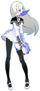 While not a playable character, Lilin is Portable Device's support AI, offering advice and information to the user/player. She's was modeled after L'Lin Plajiner to use many of hers as a back-up plan to access Tangram, despite being only an emulation of a copy. Lilina also starts to speak to you if you leave the main menu open too long.