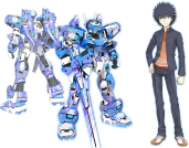 """Temjin707 returns in the hands of one Kamijou Touma, the boy with Imagine Breaker residing in his right hand. Otherwise, his esper powers are Level 0, also known as impotent. It's more likely that his right hand negates his esper power, which I believe to be a simple """"to be goddamn hero."""" Otherwise, he is permeated by status of hard luck, which directly affects him and whomever is around him. This isn't much of a joke, as within the story this leads to terrible events. This time Temjin plays very much like its Oratorio Tangram version, with the addition of its Voost Move being a rushing punch, based on the Imagine Breaker itself. Otherwise it plays as you'd remember, not really all that fast on either on ground or in air, but has all the tools to handle all the situations with proper play. The new blue scheme fits it well, being a bit on the cooler side than the stock-blue it had before, though that it accessible in order to stay faith to the light novel."""