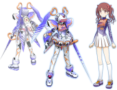 Shirai Kuroko, Level 4 esper with teleportation powers obviously goes with Fei-Yen Knight due to its speed and feminine appearance. And twin tails. Much like Temjin and Raiden, nothing major has changed with Fei-Yen, emphasizing shaving enemy's HP with fast strikes. Smallest target on the field too, and extremely agile. The Voost Move is Kuroko's teleportation attack, where she teleports metal spikes to objects. In this case, she teleports elsewhere in the stage and makes it rains these spikes down like no other, forcing the opponent to keep in motion to a direction. Easy to make use of for directional manipulation for a good Heart Beam hit.