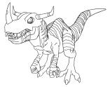 Greymon (Digimon Adventure 01 Movie Lineart 2)